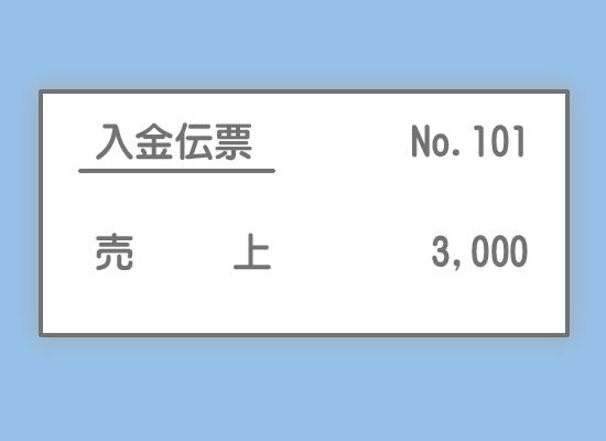 入金伝票の記入例