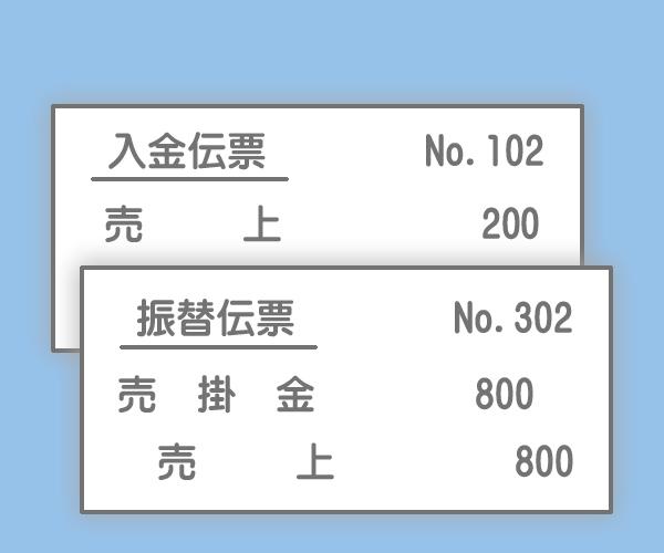 伝票の記入例